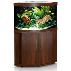 Zestaw akwariowy (narożny) Trigon 190 z szafką kolor ciemne drewno Juwel