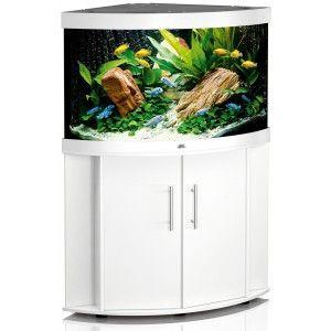 Zestaw akwariowy (narożny) Trigon 190 z szafką kolor biały Juwel