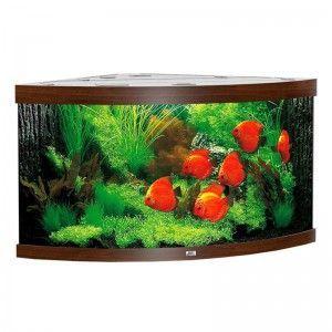 Akwarium narożne z wyposażeniem Trigon 350 kolor ciemne drewno Juwel