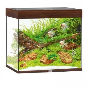 Akwarium z wyposażeniem Lido 200 kolor ciemne drewno Juwel