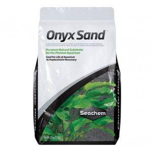 Naturalny ciemnoszary żwir Onyx Sand 7 kg Seachem