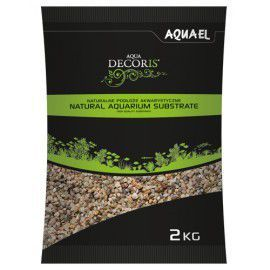 Żwir naturalny wielobarwny 1,4-2 mm, 2 kg Aquael