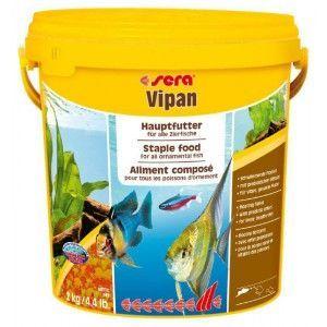 Pokarm podstawowy dla ryb ozdobnych Vipan duże płatki 10l Sera