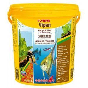 Pokarm podstawowy dla ryb ozdobnych Vipan duże płatki 20l Sera