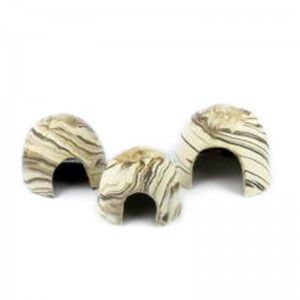 Ceramiczny kokos Apiko z dużą dziurą S 10x7,5 Aquawild