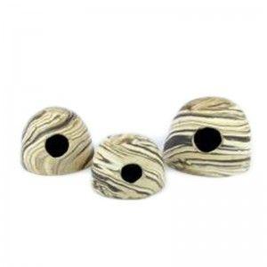 Ceramiczny kokos Apiko z okrągłą dziurą M Sand 12x9 Aquawild