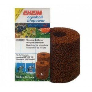 Wkład gąbkowy usuwający fosforany, cartridge do filtrów wewnętrznych 2208-2212, aquaball 60-180, Biopower 160-240 Eheim