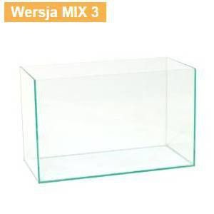 AKWARIUM OPTIWHITE 90x45x50cm (8mm) MIX3