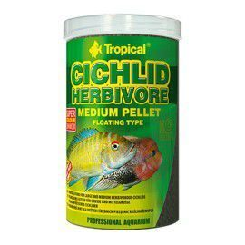 TROPICAL CICHLID HERBIVORE MEDIUM PELLET 500ml/180g
