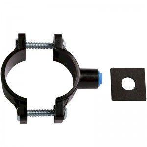 Obejma odpływu ABS z nakrętką 1/4', czarna Aqua Art