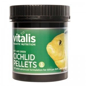 Rift Lake Cichlid Pellets Green S 1,5mm 300g/500ml Vitalis
