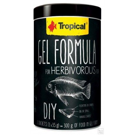 Gel Formula For Herbivorous Fish 1000ml/ 3x35g Tropical