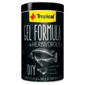 Gel Formula For Herbivorous Fish 1000ml/ 3x35g Tropical