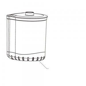 Pojemnik filtra Turbo 500 (N) Aquael
