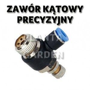"""DŁAWIK KĄTOWY PRECYZYJNY CO2 - GWINT 1/8"""" 6/4mm"""